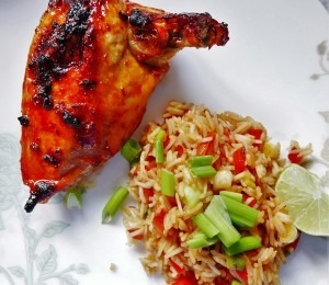 Barbeque chicken and sauce (7)