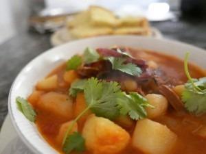 red chicken stew
