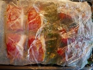 Salmon with Parma ham (2)