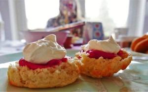 Cranberry Curd scones (3)
