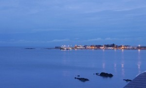 the view towards Skerries harbour on a mild September Evening