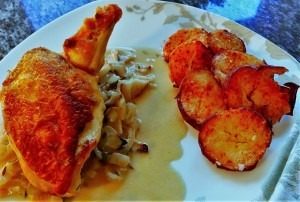 Chicken Supreme with thyme and wine (12)