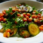 Chickpea, Courgette and yoghurt veg. dish (6)